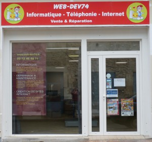 vitrine magasin informatique Marmande Sainte Bazeille